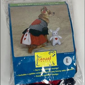 Queen Of Hearts Dog Costume Size L